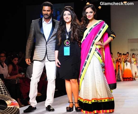 Shazahn Padamsee Prabhu Deva for Archana Kochhar at LFW Summer-Resort 2013 Grand Finale