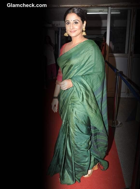 Vidya Balan in Green Sari at Bawraas Concert