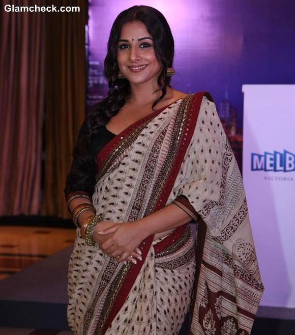 Vidya Balan in Sari at Indian Film Festival of Melbourne 2013