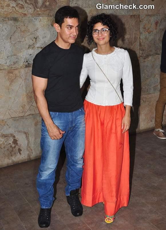 Aamir Khan with wife kiran rao 2013