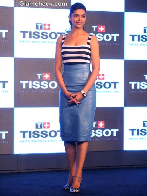 Deepika Padukone Nautical style at TISSOT Watch Launch