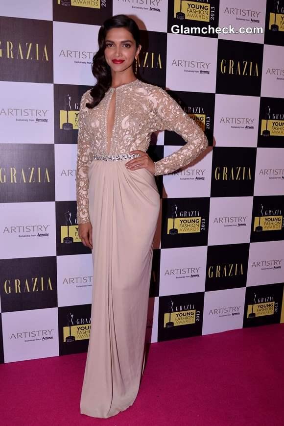 Deepika Padukone gown at Grazia Fashion Awards 2013