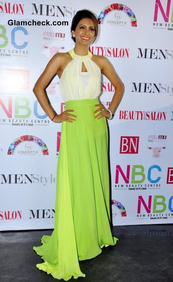 Geeta Basra in Green Gown
