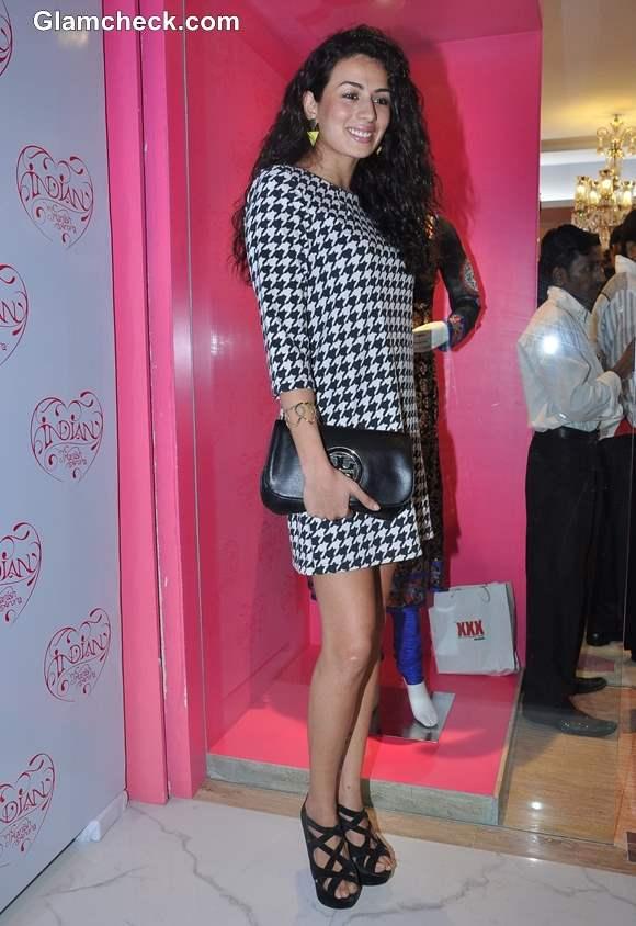 Model Pia Trivedi at Manish Arora Flagship Store launch mumbai