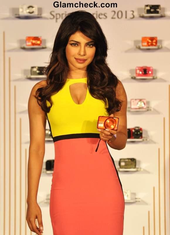 Priyanka Chopra Endorses Nikon Coolpix Range in Colorful Sheath Dress
