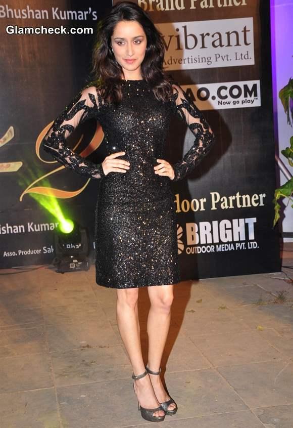 Shraddha Kapoor 2013 Aashiqui 2 Music Launch black dress