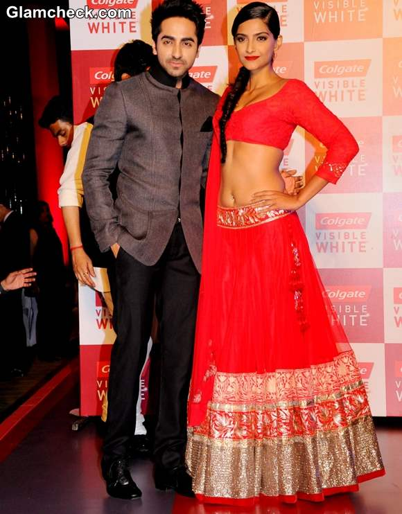 Sonam Kapoor 2013 red lehenga