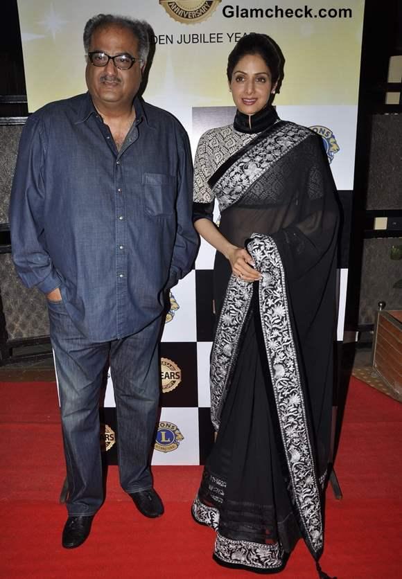 Sridevi in Manish Malhotra sari at Lions Club 50th Year Bash