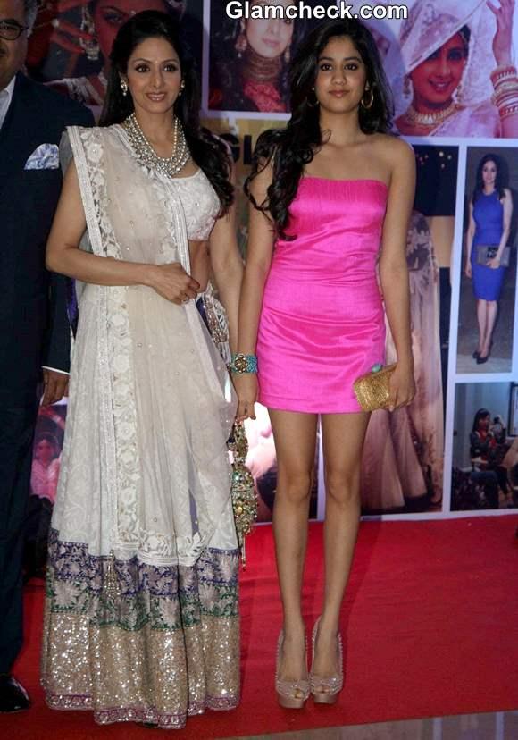 Sridevi with daughter Janhavi at Subrata Roy Party