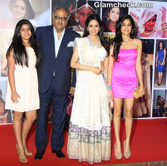 Sridevi with family at Subrata Roy Party
