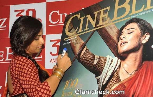 Vidya Balan Unveils Mother India Cover of CineBlitz Magazine Anniversary Issue