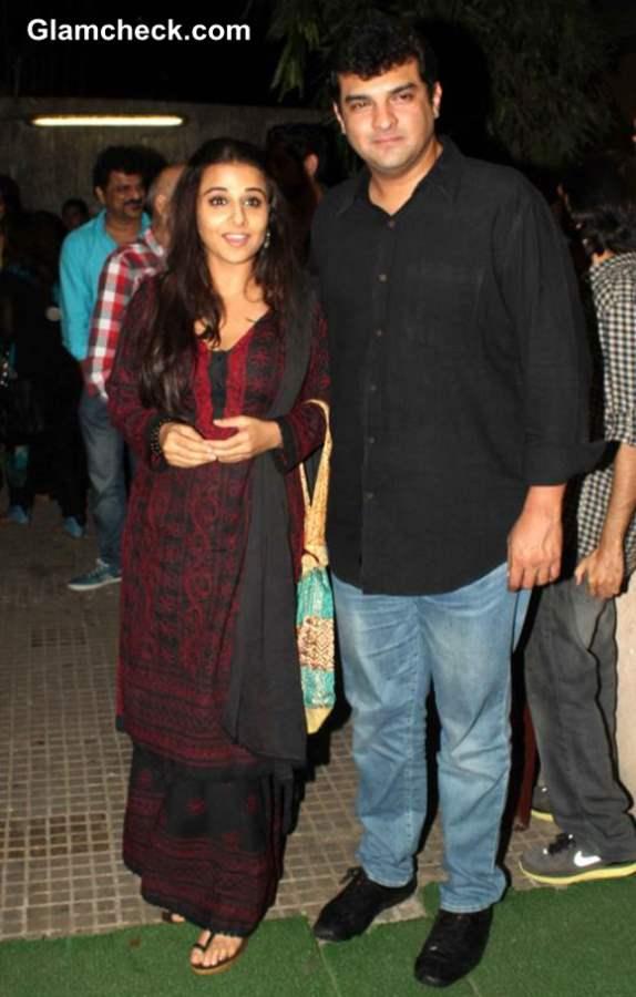 Vidya Balan with husband Siddharth at Aashiqui 2 Special Screening