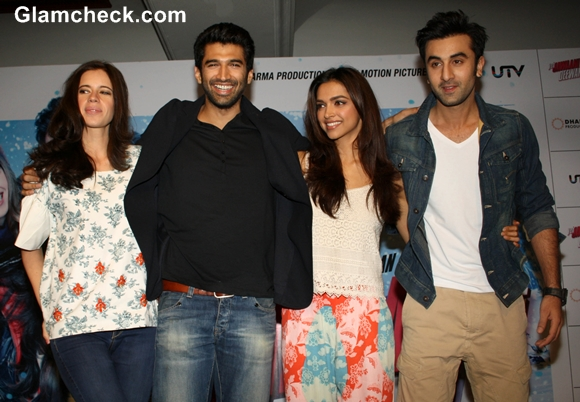 Cast of Yeh Jawaani Hai Deewani Promote Film in Delhi