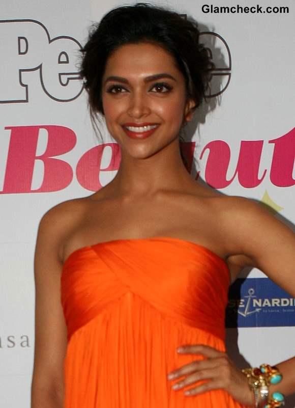 Deepika Padukone Glows in Flowy Orange Dress