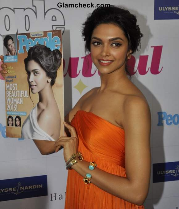 Deepika Padukone unveils People Magazines Most Beautiful Woman 2013 issue