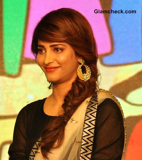 Hairstyle DIY- Shruthi Hassan Messy Fishtail Plait