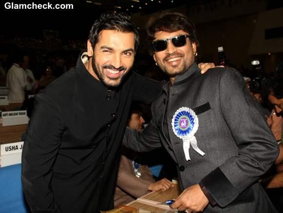 John Abraham and Irrfan Khan at 60th National Film Awards 2012