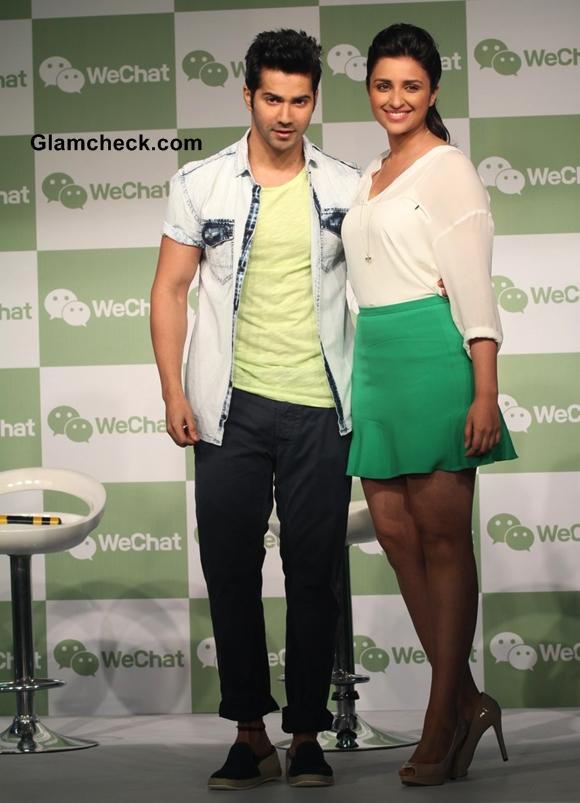 Parineeti Chopra Varun Dhawan at WeChat Messenger Launch