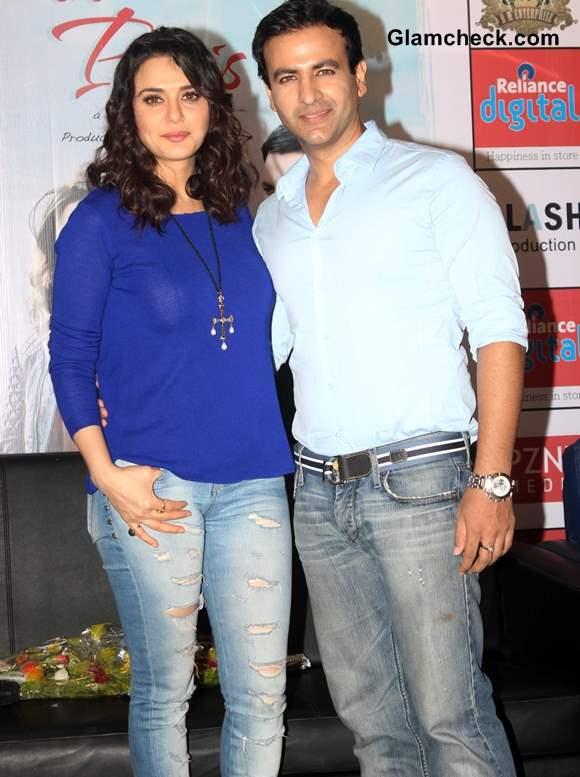 Preity Zinta Distressed denims  Ishkq in Paris Promo