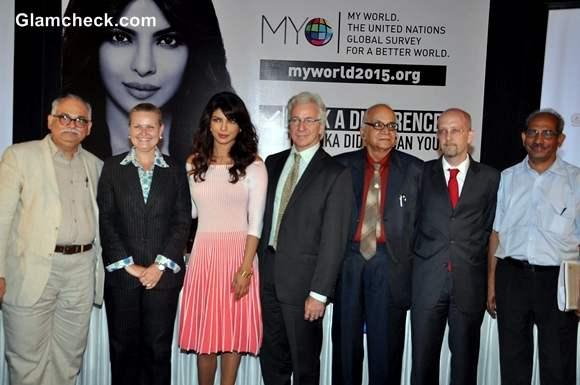 Priyanka Chopra Launches UNICEF My World Mobile App
