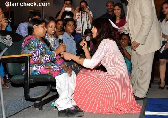 Priyanka Chopra UNICEF My World Mobile App Launch