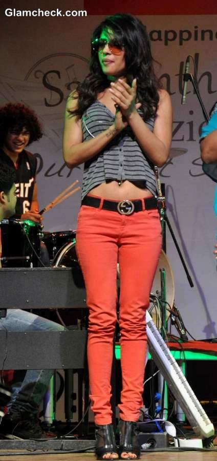 Priyanka Chopra in Colored Denims