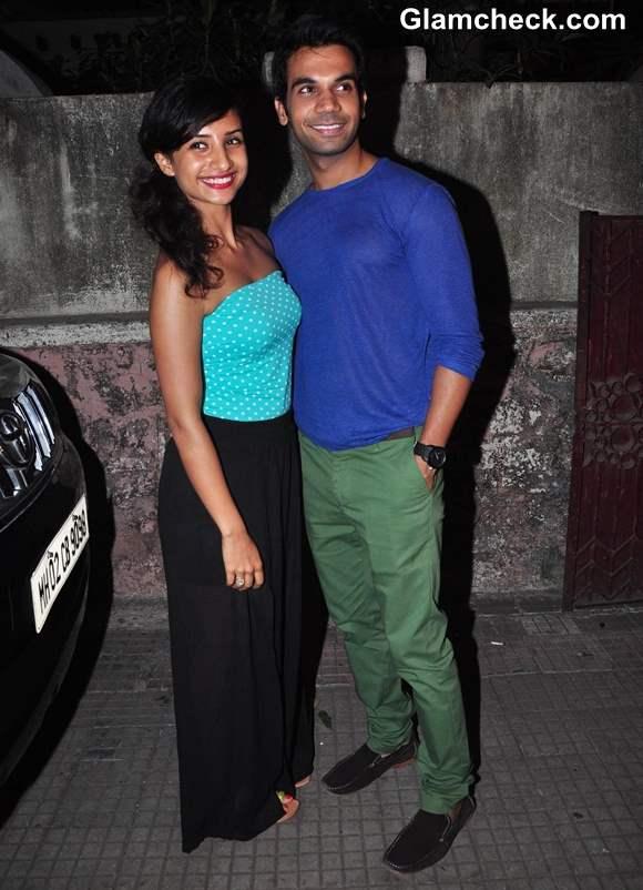 Raj Kumar Yadav with girlfriend Anwita Paul
