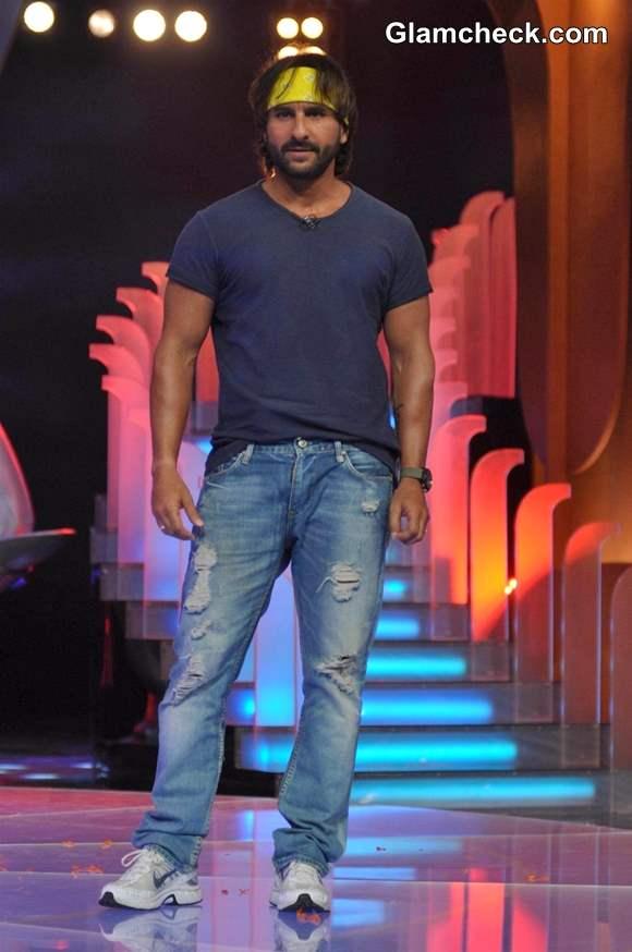 Saif Ali Khan 2013 Promotes Go Goa Gone at IPL