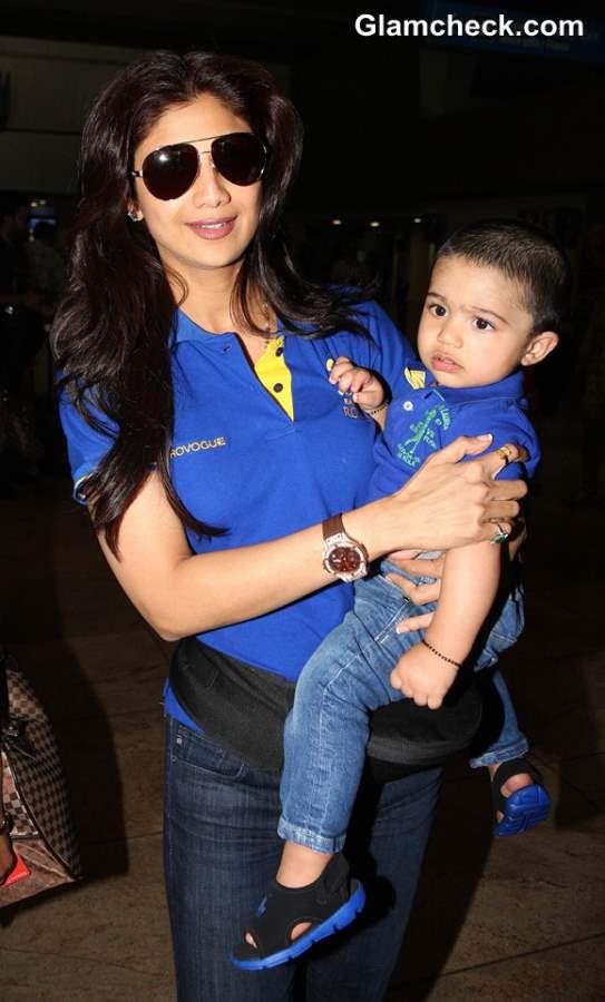 Shilpa Shetty with son Viaan