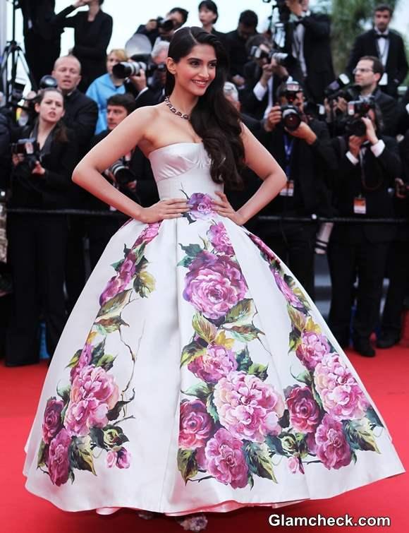 Sonam Kapoor 2013 Cannes Film Festival 2013 in Princess Gown