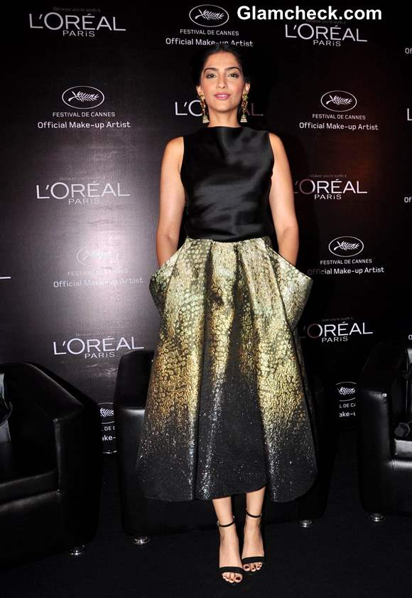 Sonam Kapoor LOr Sunset Cannes Collection Launch 2013