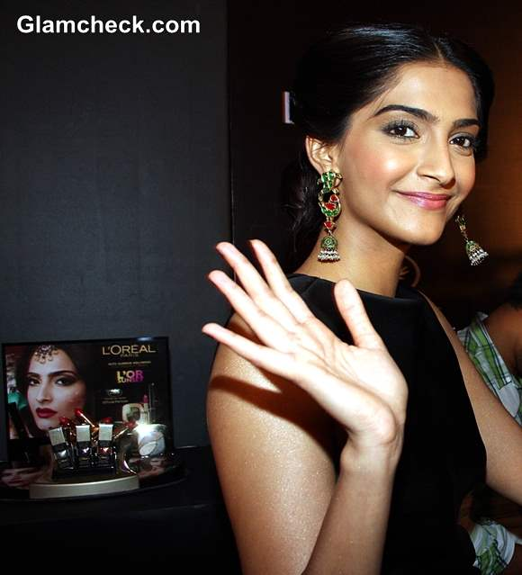 Sonam Kapoor at LOr Sunset Cannes Collection Launch 2013