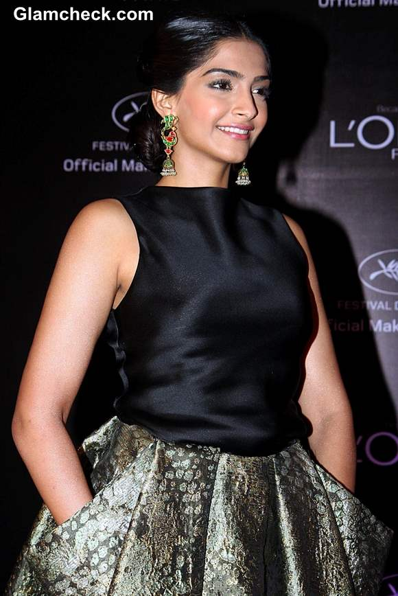 Sonam Kapoor for LOr Sunset Cannes Collection Launch 2013