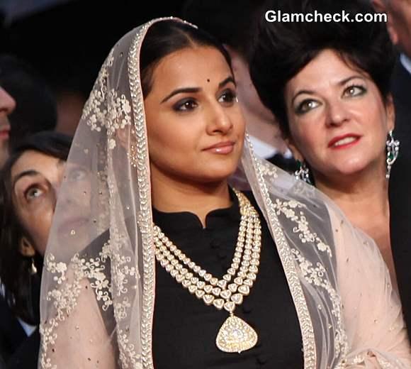 Vidya Balan Sabyasachi Lehenga 2013 Cannes Opening
