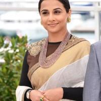 Vidya Balan Sabyasachi Sari 2013 Cannes Jury Photocall