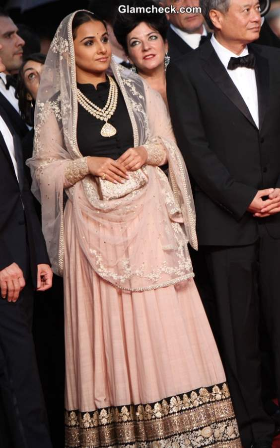 Vidya Balan in Sabyasachi Lehenga at 2013 Cannes Opening Ceremony