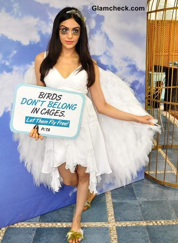Adah Sharma Joins PETA Bird-loving Ad Campaign