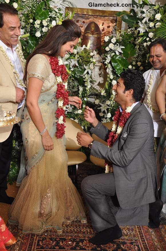 Ahana Deol engagement with to Vaibhav Vora pictures