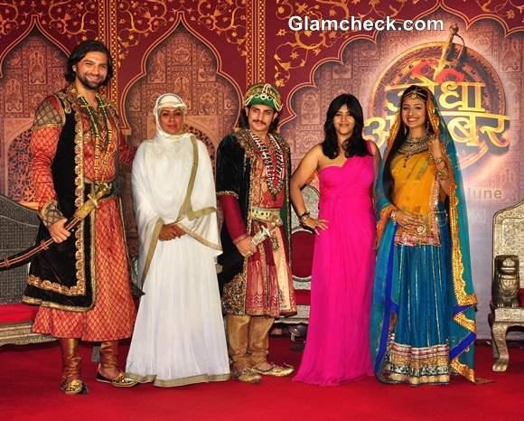 Cast of Jodha Akbar Launch TV Show in Mumbai