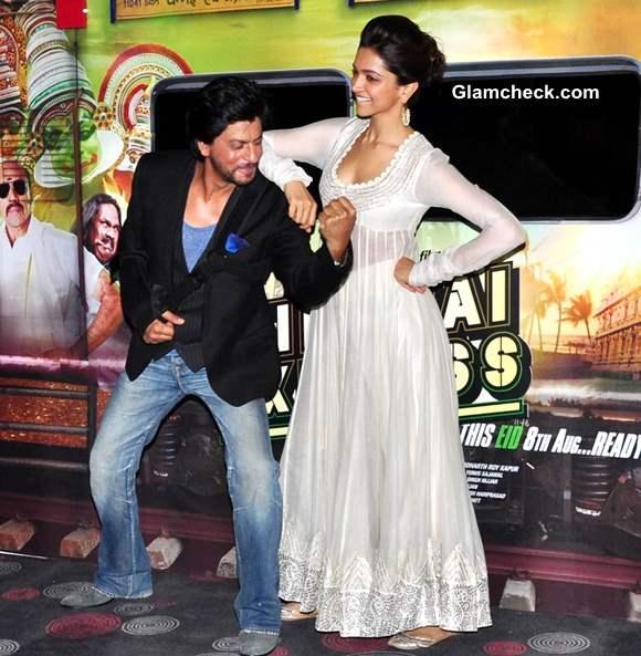 Deepika Padukone White Anarkali suit Chennai Express movie 2013