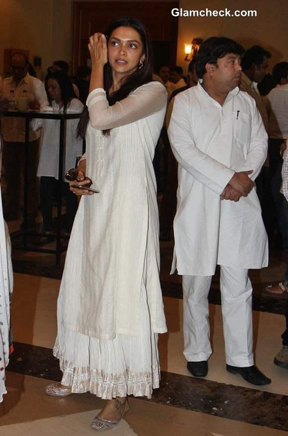 Deepika Padukone at Condolence Meet for Priyanka Chopras Father