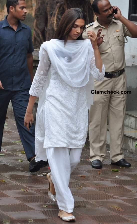 Deepika Padukone at Priyanka Chopra's Father Funeral