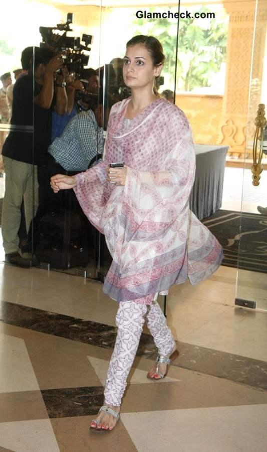 Dia Mirza at Condolence Meet for Priyanka Chopras Father