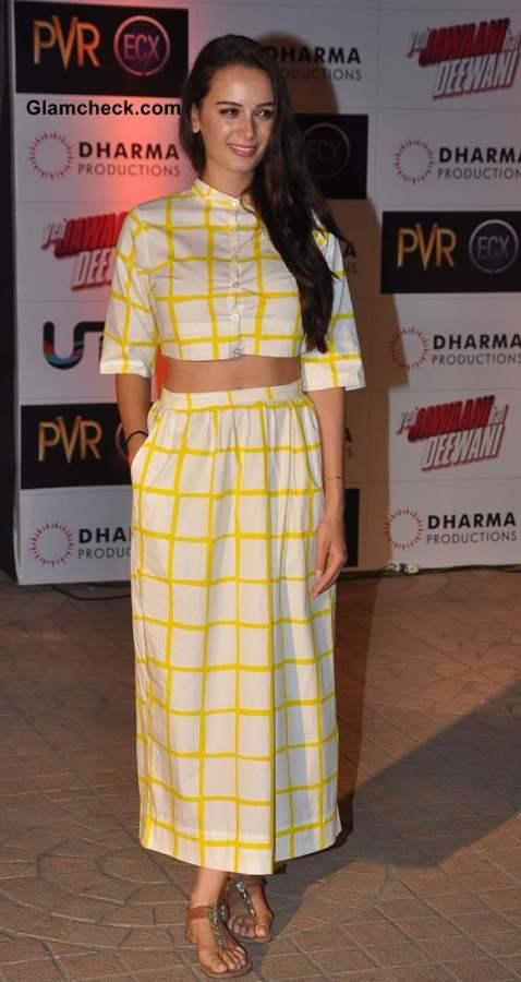 Evelyn Sharma at the Premiere of Yeh Jawaani Hai Deewani