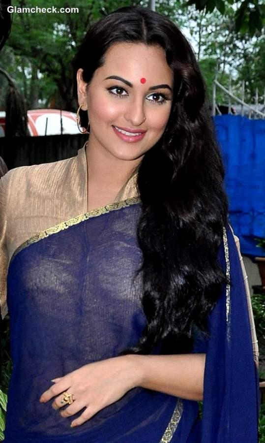 Hair DIY Sonakshi Sinha Everyday Traditional Indian Look