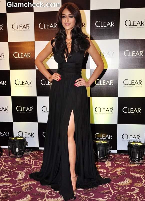 Ileana DCruz 2013 black gown at Clear Shampoo Launch