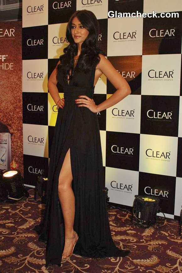 Ileana DCruz Black Gown 2013 Clear Shampoo Launch