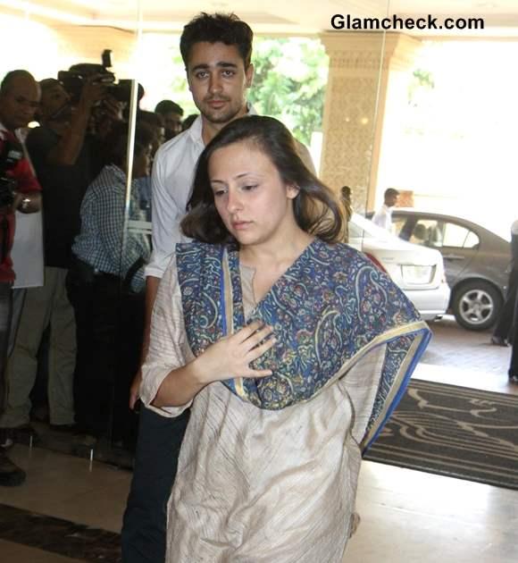 Imran Khan with wife  at Condolence Meet for Priyanka Chopras Father