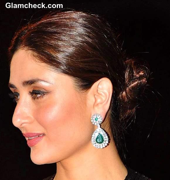 Kareena Kapoors twisted bun hairstyle 2013
