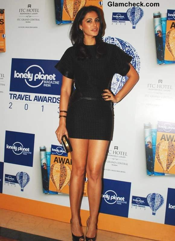 Nargis Fakhri Black Dress Lonely Planet Travel Awards 2013